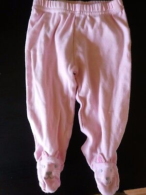 3-6M The Children's Place Pink Kitty Cat Footed Leggings Pajama Bottoms 3-6M