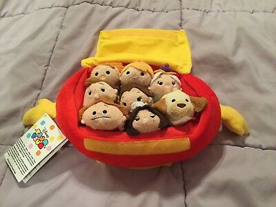 Disney Store Tsum Tsum Beauty and the Beast exclusive 8 piece