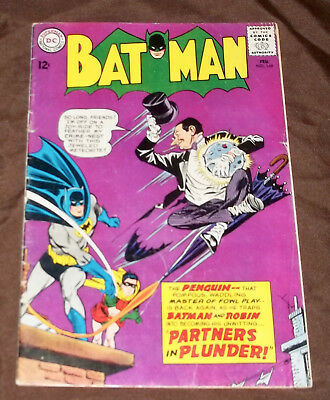 Batman 169 The Partners in Plunder 1st silver age Penguin appearance Nice VG