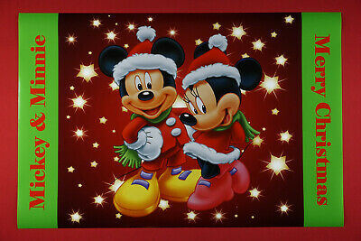 Mickey & Minnie Mouse Merry Christmas Disney Holiday Picture Poster 24X36 New