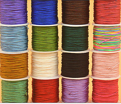 Nylon Chinese Knot Cord 0.5mm-0.8mm Thread String Rattail Macrame Jewelry making