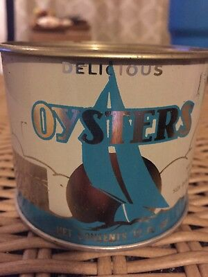 12 Oz. Delicious Oyster Can Chesapeake Rapp Seafood White Stone Va 765 Resealed