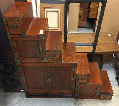 Asian hardwood Tansu step cabinet Lot 176