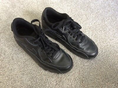 Authentic Black For School Nike Air Max Shoes. Size US4. As New!