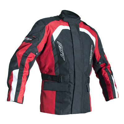 RST Alpha IV Black / Red Motorbike Waterproof Textile Touring Jacket | All Sizes