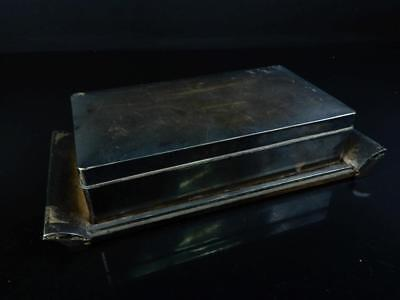 J5617: Japanese XF Silver CONTAINER Accessories Case Box Sterling Silver 950