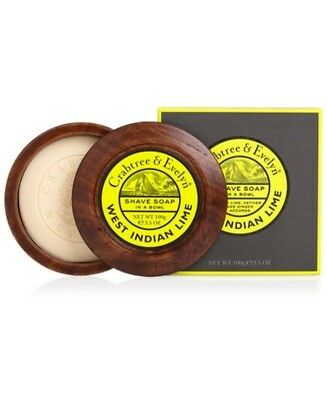 New Crabtree & Everlyn West Indian Lime Shave Soap & Bowl 79964