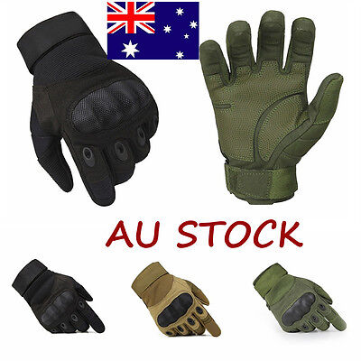 Military Tactical Mechanix Full Finger Gloves Airsoft Hard Knuckle Hunting SWAT