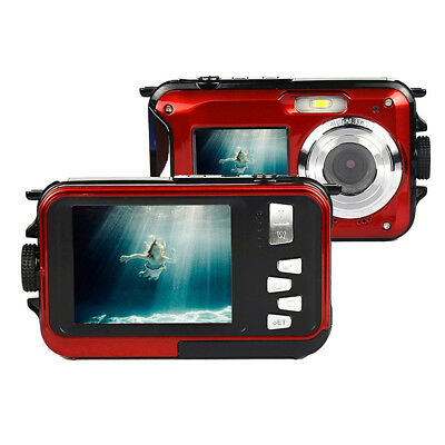 Dual-screen Digital Camera Waterproof Camera Novelty Christm Gift Underwater DVR