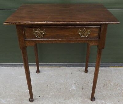 Vintage Oak Side Table Hall Table With Single Drawer In The Antique Style
