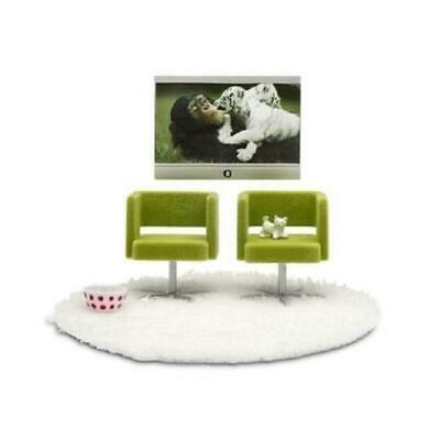 Doll's Stockholm Armchairs & TV Set - Lundby Free Shipping!