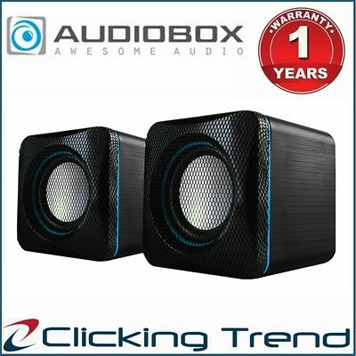 Speaker Audiobox U-Cube USB Powered PC Mac Powerful Quality 6 Watt Style Blue