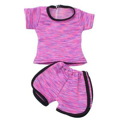 Sports Suit for 18inch American Girl Our Generation Dolls Clothes Tops Pants