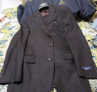 Nwt Brooks Brothers Suit 36S 30W Us Made $1800 Luxury Saxon Wool Fall Winter