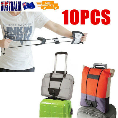 10X Travel Luggage Suitcase Adjustable Tape Belt Add A Bag Strap Carry On Bungee