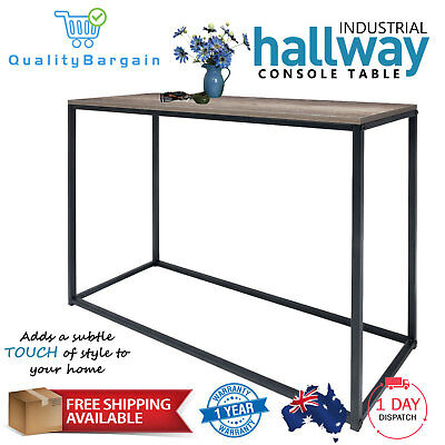 Industrial Hallway Table Console Natural Accent Side Entrance Hall Entry Storage