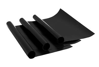 3 Teflon Liners Non Stick Oven Cooker Grill Liner Mat PTFE Shelf Base Tray Black