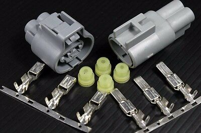 2 Ways Cooling Fan Motor Plug Connector X 1 Kit Fit For Toyota Wish