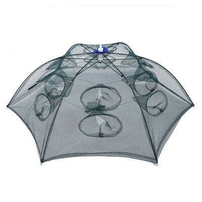 Trap Net Fishing Camaron Cage Portable Umbrella Style Foldable with 12 Hole O5B3