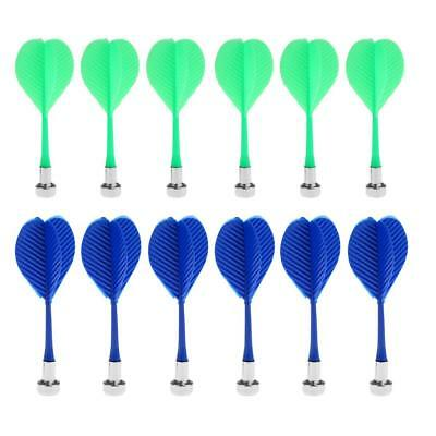 12Pcs Magnetic Safety Replacement Darts for Magnetic Dartboard 2 Colors Mix