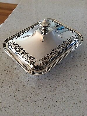 Solid Silver (900) Pierced Bowl and Lid 295g