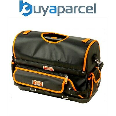 """Bahco 4750FB1-19B 470mm Open Tote Tool Bag 19"""" Hard Base Tool Bag with Cover"""