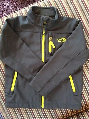 Boys North Face Jacket In Grey And Yellow Size XXS (5)