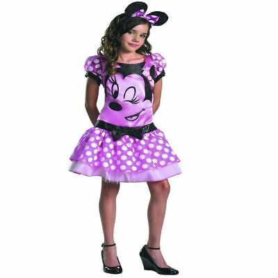 Disney Minnie Mouse Girl Children Halloween Party Fancy Dress Costume Outfit 7-8