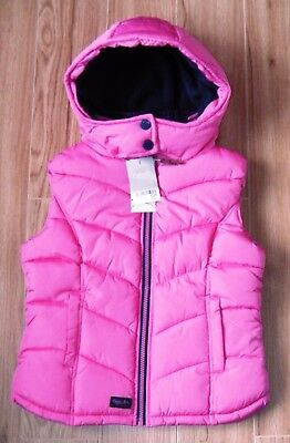 Bnwt Next Girls Pink Bodywarmer Gilet 10 Years 9-10 New Coat Jacket Christmas