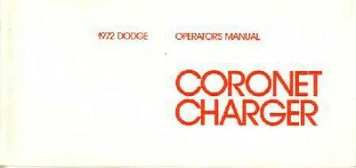1973 Dodge Charger Coronet Owners Manual User Guide Reference Operator Book OEM