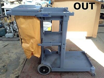 Global Industries 603590 Cleaning/Janitorial/Janitor Cart w/ 25 Gallon Vinyl Bag