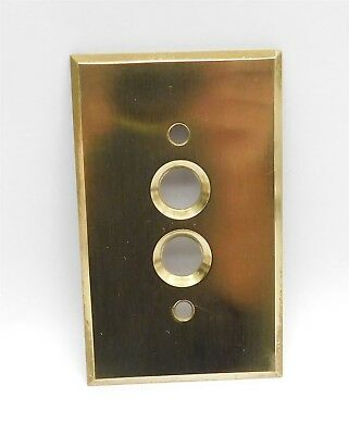 Vintage Antique Brass SWITCH COVER for Push-Button Light Switch Polished 1013-47