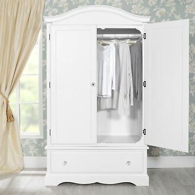 Romance Wardrobe with deep drawer and crystal handles. QUALITY
