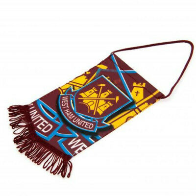 West Ham United F.c Official Product Car Hanging Mini Pennant One Size Small