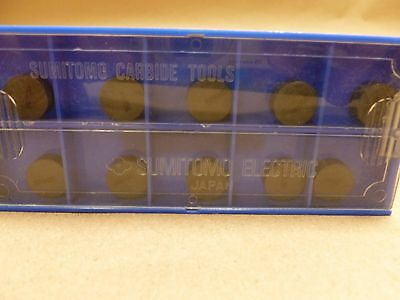 10Pc SUMITOMO RNG43-NB90S CERAMIC INSERT -TURNING OF STEELS HARDENED UP TO 60 Rc
