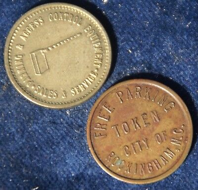 North Carolina Parking Tokens- Rockingham - Eddie Barron Superior Time Equipment