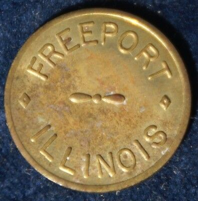 Illinois Parking Token Freeport Illinois Courtesy Parking Meter Token