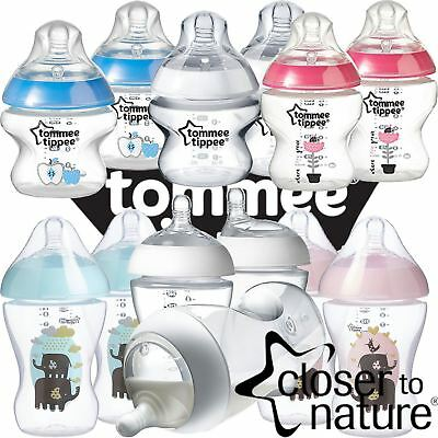 Tommee Tippee Ultra Feeding Bottles Coloured Teat Hood Newborn Baby [2 Pack]