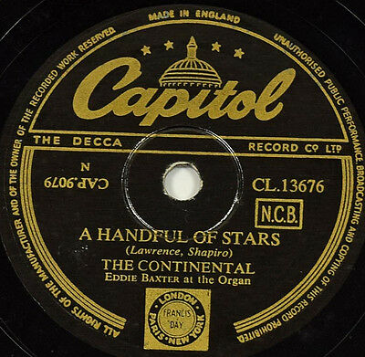 Schellackplatte 78rpm The Continental - A Handful of Stars / It Cant Be Wrong