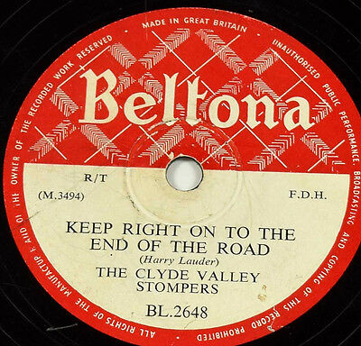 Schellackplatte 78rpm The Clyde Valley Stampers - Uist Tramping Song gramophone