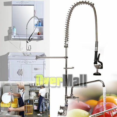 """Commercial Kitchen Restaurant Pre-Rinse Faucet Swivel with 12"""" Add-On Faucet New"""