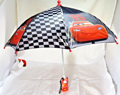 NEW Kids' Disney Pixar Cars Lighting McQueen Compact Umbrella Childrens' GIFT