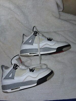 NIKE AIR JORDAN 4 BLK WHITE CEMENT GREY 2012 OG RETRO ORIGINAL Size 4.5Y