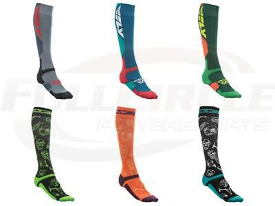 Fly Racing MX Pro Coolmax Performance Riding Socks Thick & Thin Offroad MTB/ATV