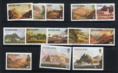 St. Helena 1976 set 13 Values fine Unmounted Mint