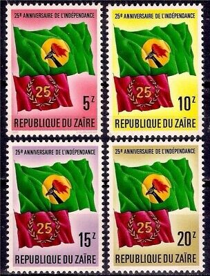 Zaire 1985 Liberation Independence/25th Anniversary National Flag 4v set MNH