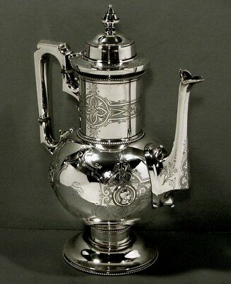 Alfred Coles Sterling Coffee Pot   c1850    MUSEUM CITY OF NEW YORK    35 Oz.