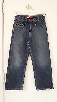 Levi's jeans W25 L25 age 10 regular, loose straight style 569 great condition