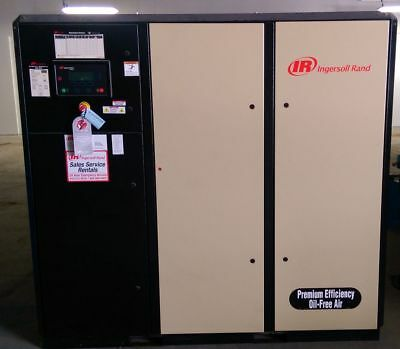 Ingersoll Rand Nirvana IRN75H-OF 75 HP Air Compressor w/Dryer - Very Low Hours!!