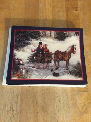 Lang Christmas Cards Winter Sleigh Ride 14 Count w/Envelopes
